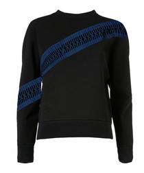 Black & blue print jumper