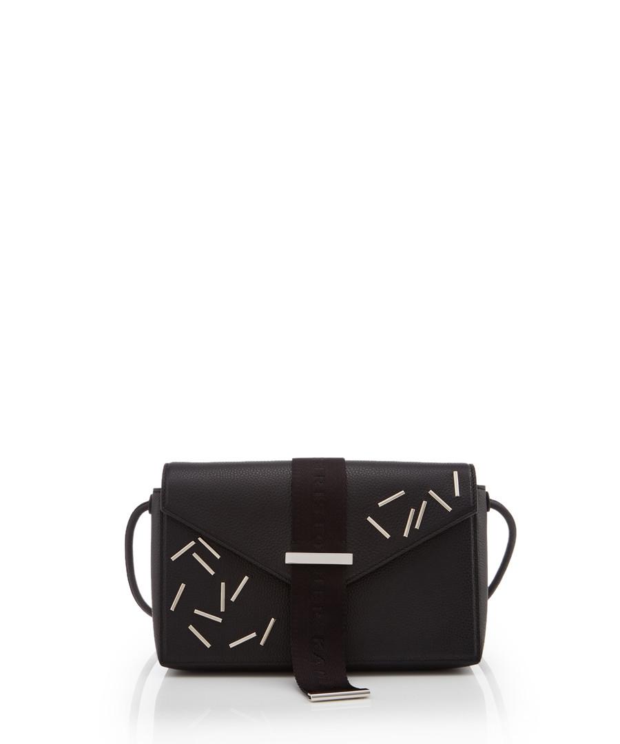 Devine black leather print clutch bag Sale - Christopher Kane