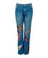 Indigo cotton patch straight jeans Sale - Christopher Kane Sale