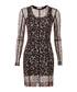 Leopard print sheer sleeve mini dress Sale - Christopher Kane Sale