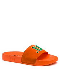 Women's Leadcat Fenty orange suede sliders