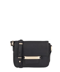 The Alexis black leather cross body