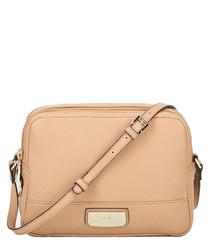The Pendula taupe leather crossbody