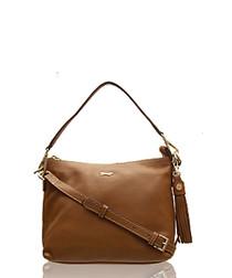 The Mestolo tan leather shoulder bag