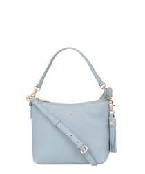 The Mestolo light blue leather grab bag