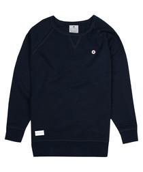 Oxford blue cotton blend jumper