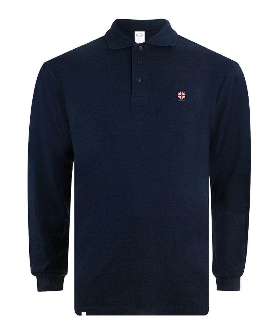 Navy pure cotton polo shirt Sale - putney bridge