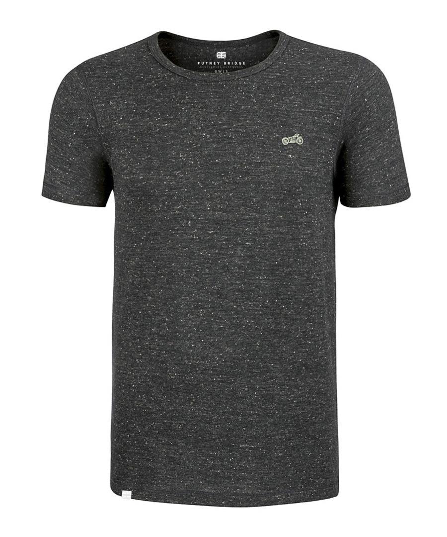 Heather grey cotton blend T-shirt Sale - putney bridge
