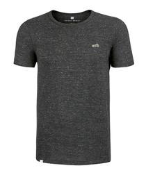 Heather grey cotton blend T-shirt