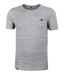 Light grey cotton blend T-shirt