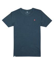 Blue marl cotton blend T-shirt