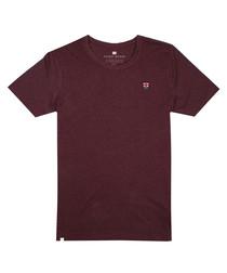 Plum marl cotton blend T-shirt