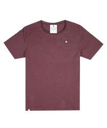 Port marl cotton blend T-shirt