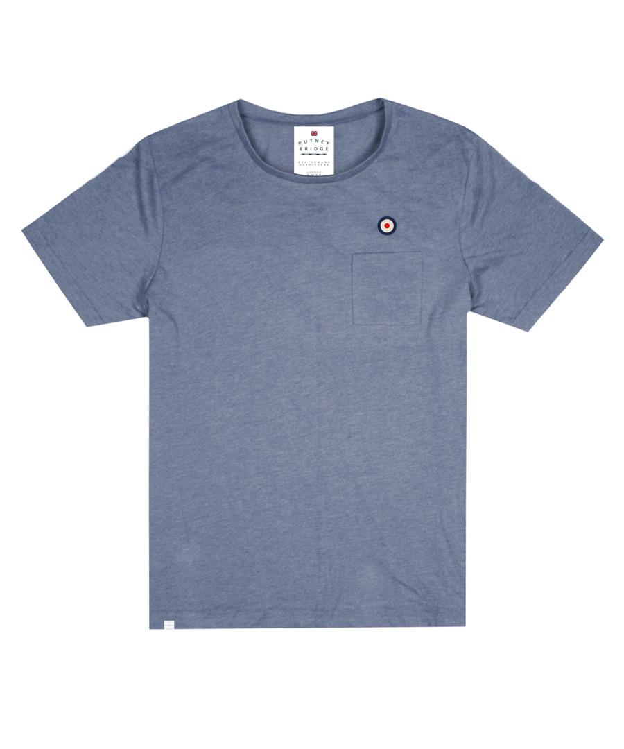 Blue cotton blend logo T-shirt Sale - putney bridge