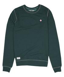 Ivy green marl cotton blend jumper