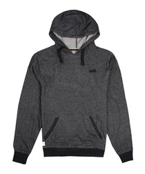 Charcoal cotton blend hoodie