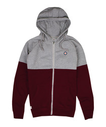 Grey & black cotton blend hoodie