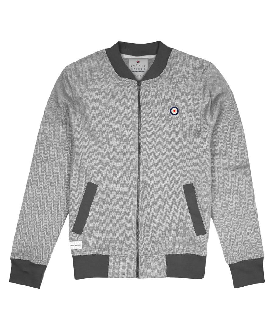 Steel grey pure cotton bomber jacket Sale - putney bridge