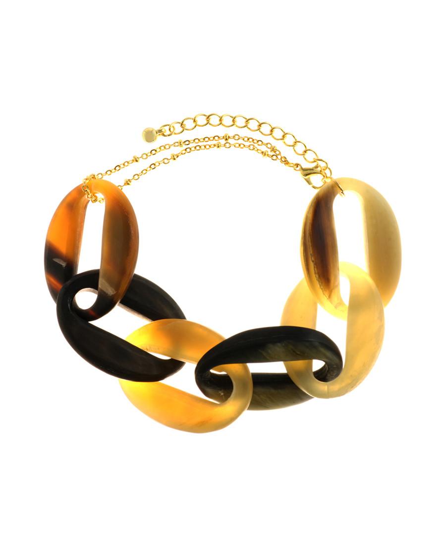 Fusion buffalo horn bracelet Sale - fleur envy gaia