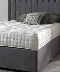 White s.double firm pocket sprung mattress