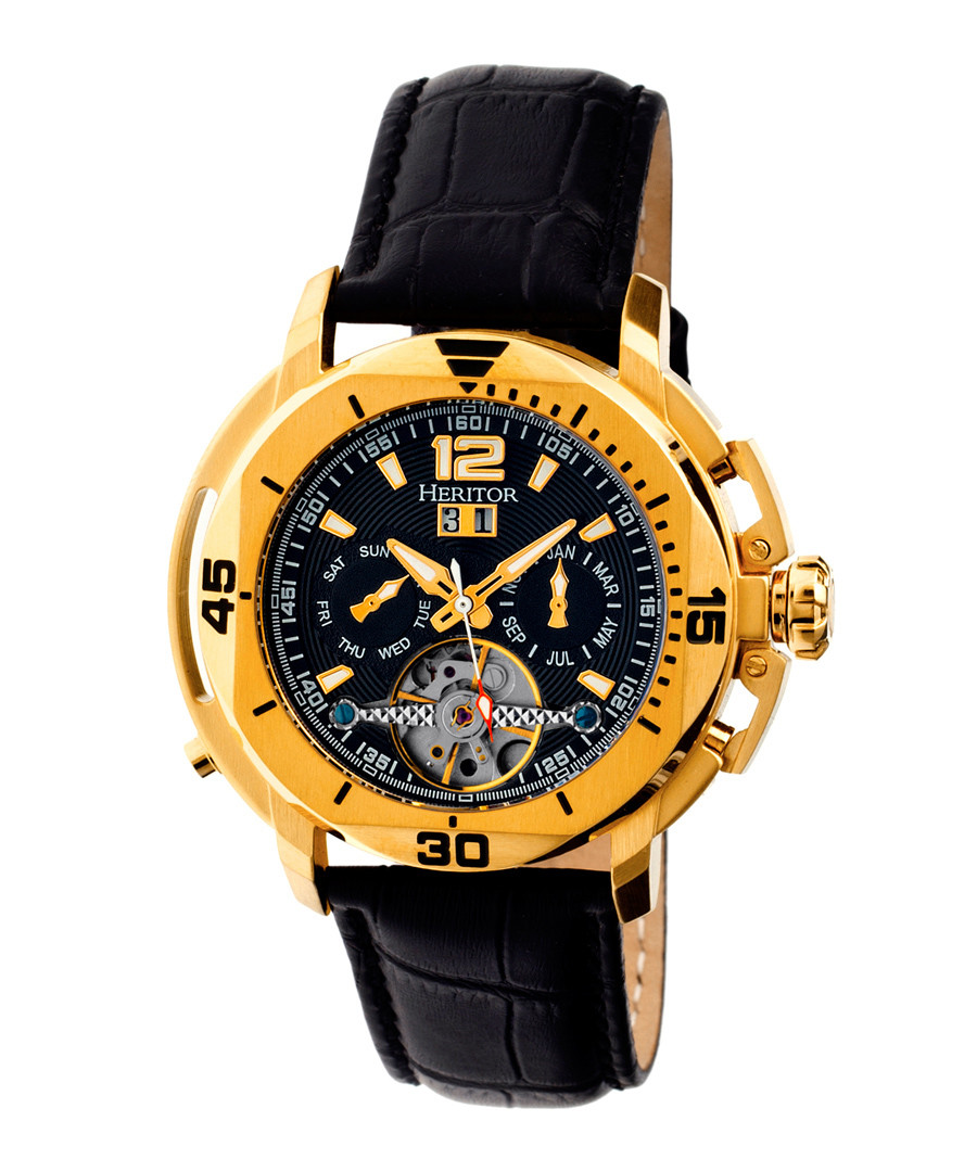 Lennon gold-tone & black dial watch Sale - heritor automatic