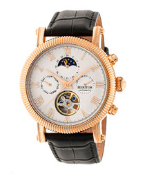 Winston rose gold-tone steel watch