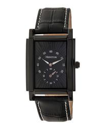 Frederick black steel square watch