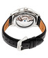 Sebastian black moc-croc leather watch Sale - heritor automatic Sale