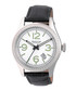 Barnes silver-tone & black leather watch Sale - heritor automatic Sale