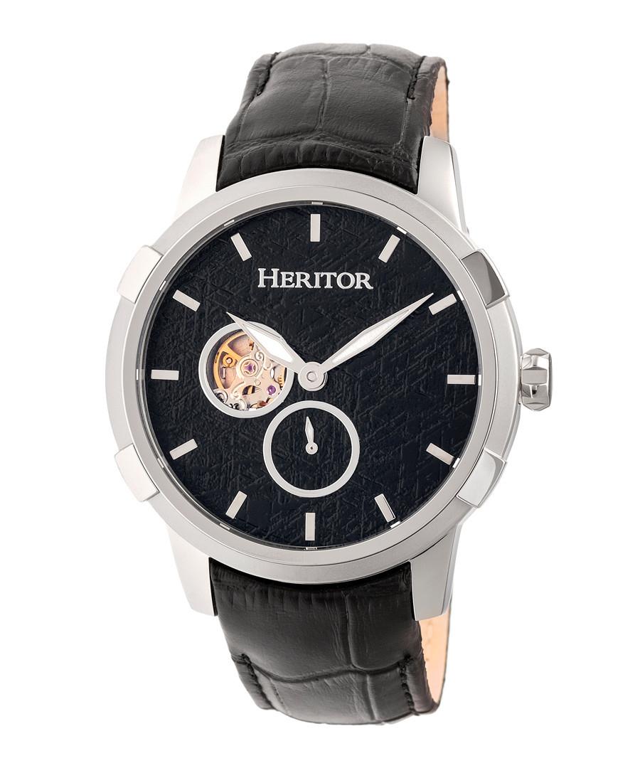 Callisto silver-tone & black watch Sale - heritor automatic