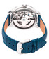 Winthrop blue moc-croc leather watch Sale - heritor automatic Sale