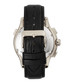 Hudson silver-tone & black leather watch Sale - heritor automatic Sale