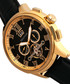 Hudson gold-tone & black dial watch Sale - heritor automatic Sale