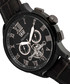 Hudson black moc-croc leather watch Sale - heritor automatic Sale