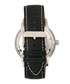Landon silver-tone leather watch Sale - heritor automatic Sale