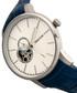 Landon blue moc-croc leather watch Sale - heritor automatic Sale