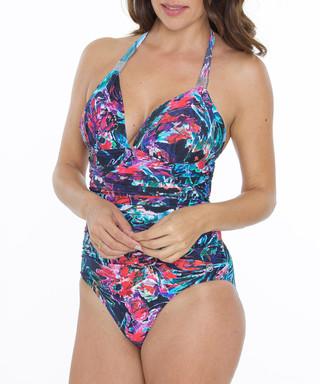 55c2dc88cf Alina multi-colour print plunge swimsuit Sale - SEASPRAY Sale