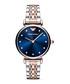 Rose gold-tone & blue dial watch Sale - Emporio Armani Sale