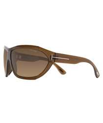 Brown wrap sunglasses