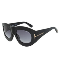 Black thick framed sunglasses
