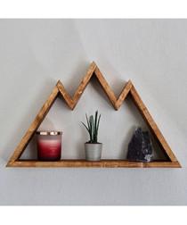 Mountain wood wall shelf