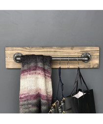 Industrial Pipe wooden rail