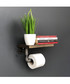 Industrial Pipe wood wall shelf Sale - Pandora Sale