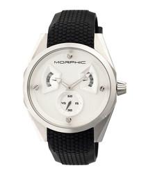 M34 silver-tone & black steel watch