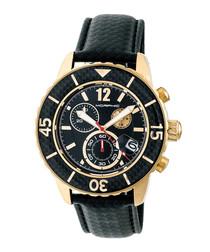 M51 gold-tone & black chronograph watch