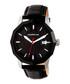 M56 silver-tone & black leather watch Sale - morphic Sale