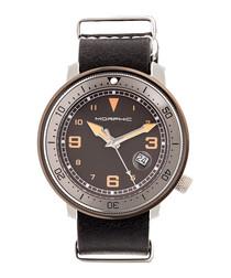 M58 black & silver nato leather watch