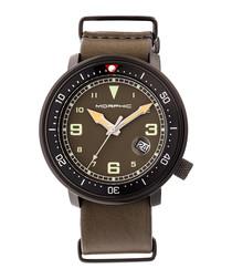 M58 black & khaki nato leather watch