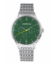 M65 green dial steel watch