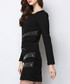 Black long sleeve detail mini dress Sale - sipaya Sale